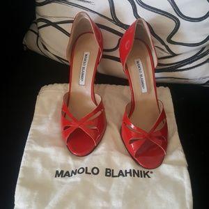 👠💋Authentic Manolo blahnik red heels!!💄💄💄
